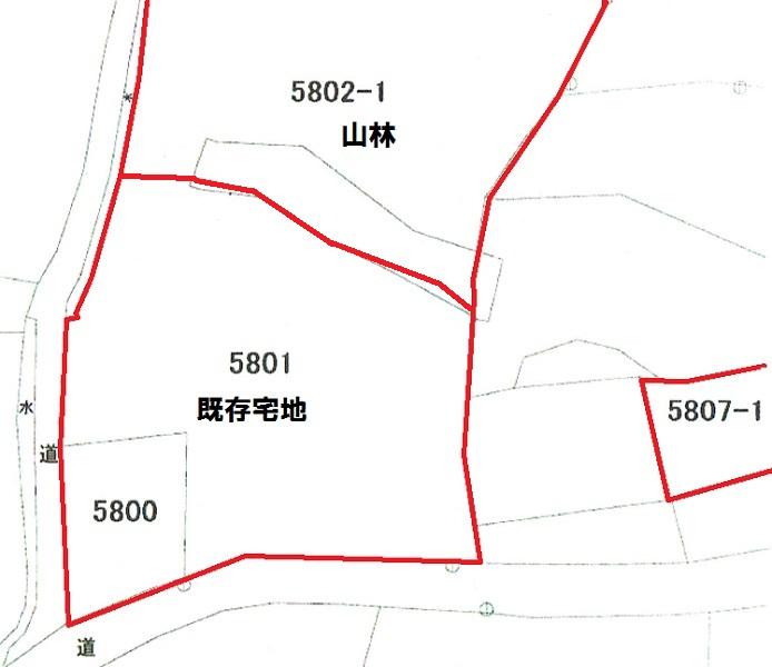 宅地部分385坪は既存宅地で、新築可能です
